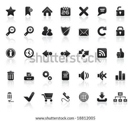 Web Icon Set. Easy To Edit Vector Image.