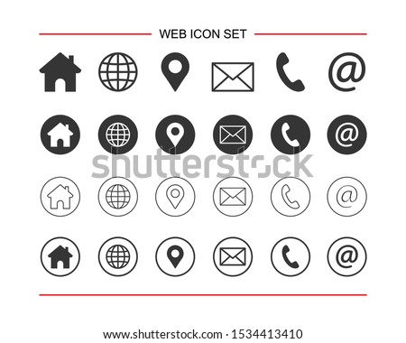 Web icon set. for computer and mobile Foto d'archivio ©