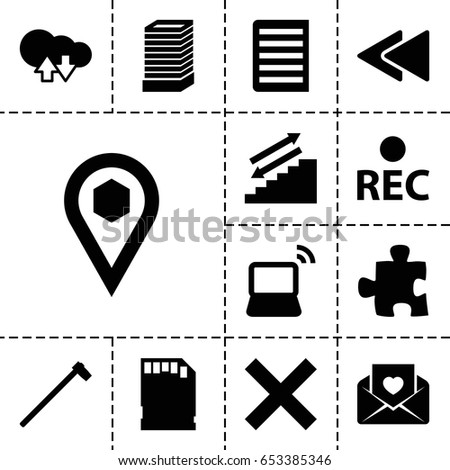 web icon set of 13 filled