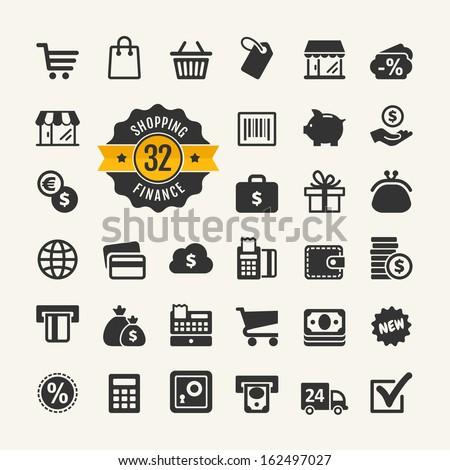 Web icon set - shopping, money, finance