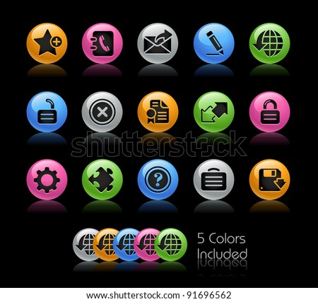 Web 2.0 Icon Set / The file Includes 5 color versions in different layers. - stock vector