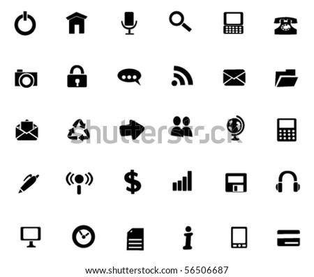 Web icon set. Vector