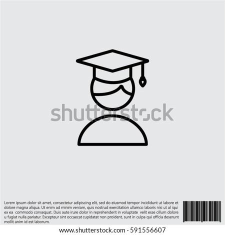 Web icon. Student