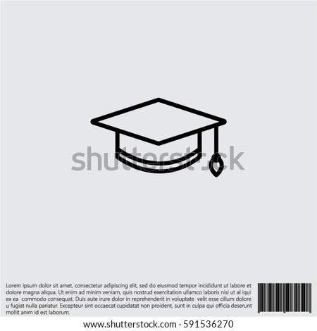 Web icon. Student cap