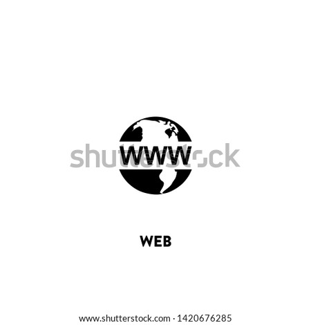 web icon vector. web sign on white background. web icon for web and app