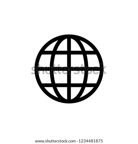 Web icon. Web icon page symbol for your web design. Internet world vector