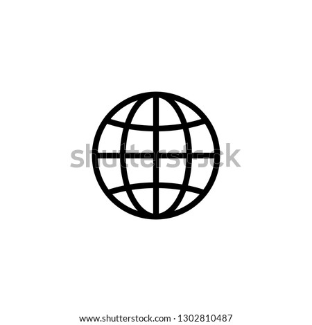 Web icon. Website icon page symbol for your web design. Internet world vector