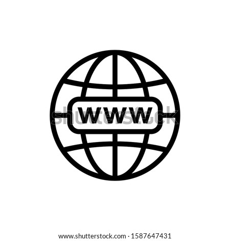 Web icon. Website icon page symbol for your web design. Internet world vector. browser