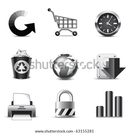 Web icons | B&W series