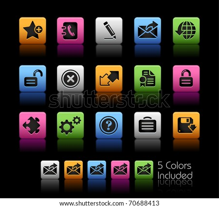 Web 2.0 icons // Color Box -------It includes 5 color versions for each icon in different layers ---------