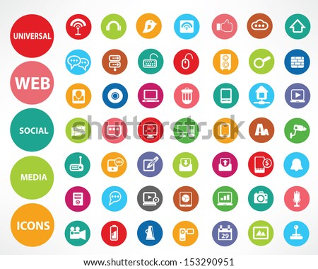 Web icons,Colorful version,vector