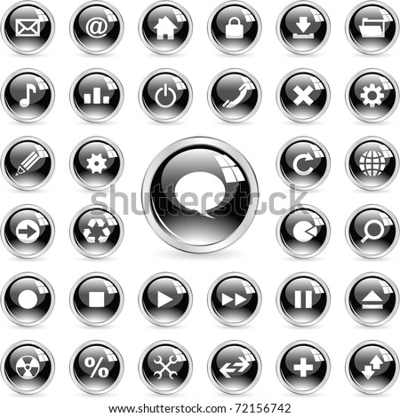 Web icons. Contact buttons set - email, home, phone, map.