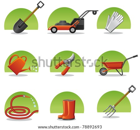 web icons garden tools