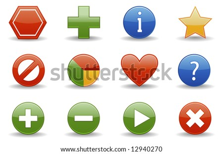 Web icons | Glossy series part 1