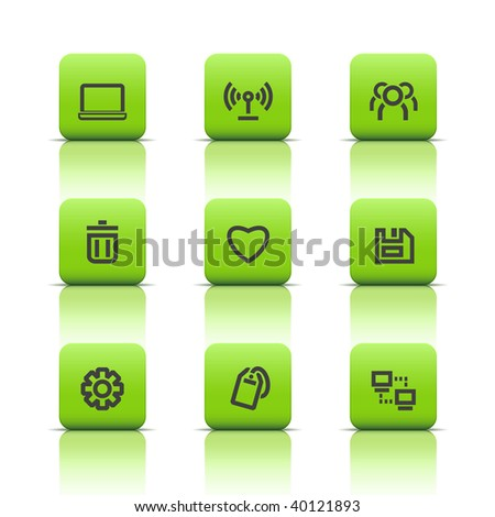 Web icons green buttons 1