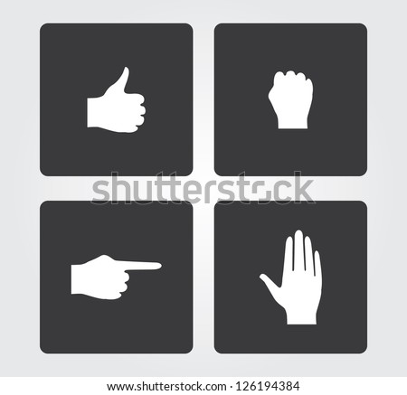 web icons  hands