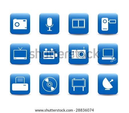 Web icons multimedia on mobile