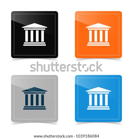 Web icons of classic colonnade architecture. Vector illustration