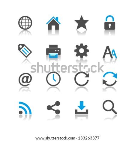 Web icons reflection theme