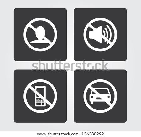 Web icons set: bans - stock vector