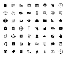 web icons set for computer. website and mobile apps - Business, finance, communication and internet. information technology sign symbols