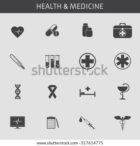 web icons set for medicine