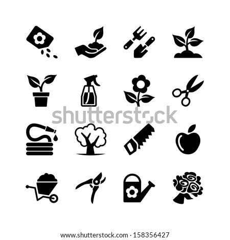 web icons set   gardening