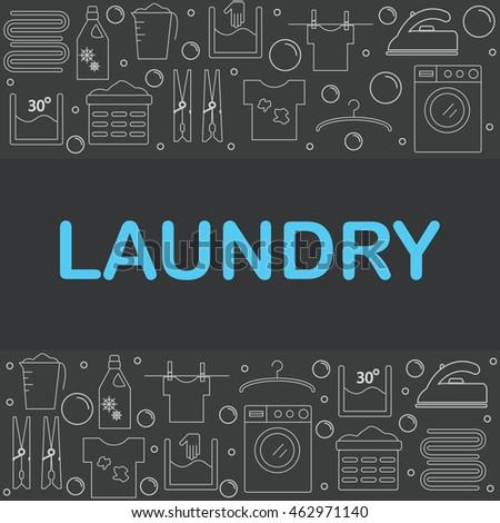 web icons set laundry the