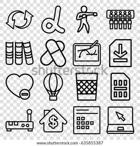 web icons set set of 16 web