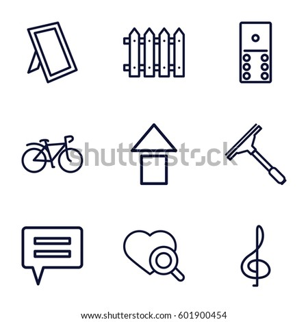 web icons set set of 9 web