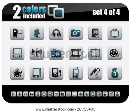 Web Icons Set. Steelo Series. Set 4 of 4. - stock vector