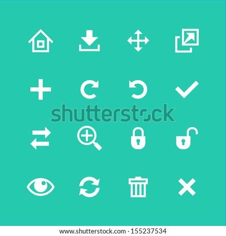 Web icons set. Toolbar, edit and customize