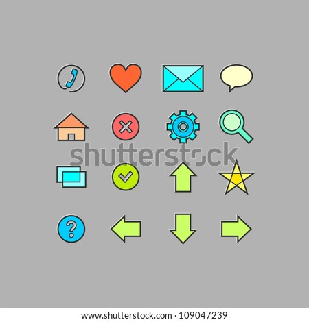 Web icons set (vector version)