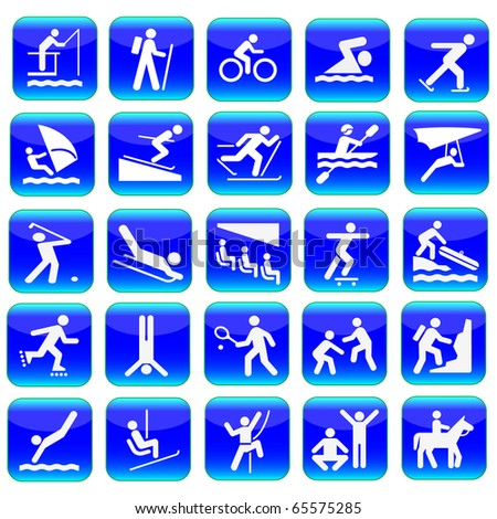 Web icons sport set.Vector
