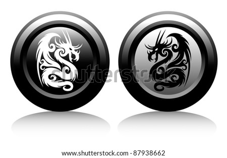 web icons with dragons
