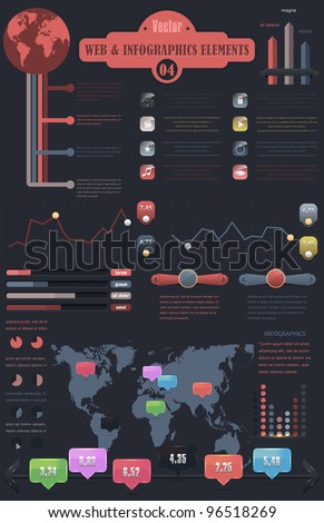 Web - Infographics elements vector design