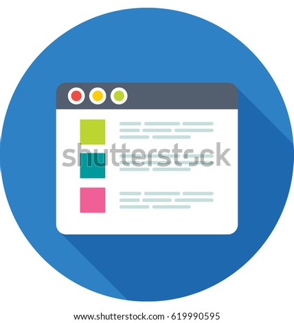Web Interface vector Icon