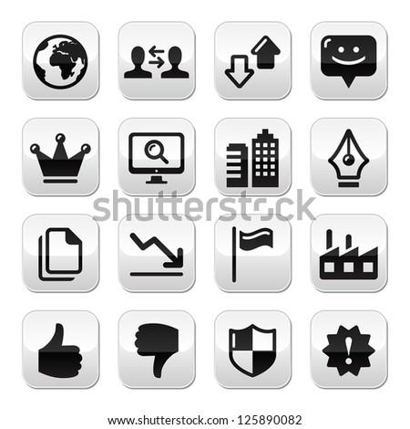 Web internet buttons set - vector
