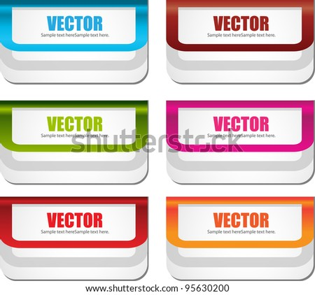 web labels or banners #95630200