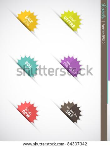Web labels, Vector EPS10.