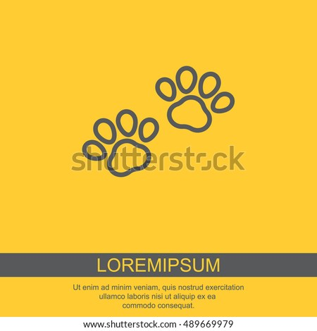 Web line icon. Animal footprint.