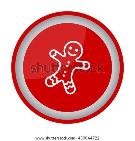 Web line icon. Christmas gingerbread #459044722