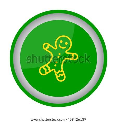 Web line icon. Christmas gingerbread #459426139