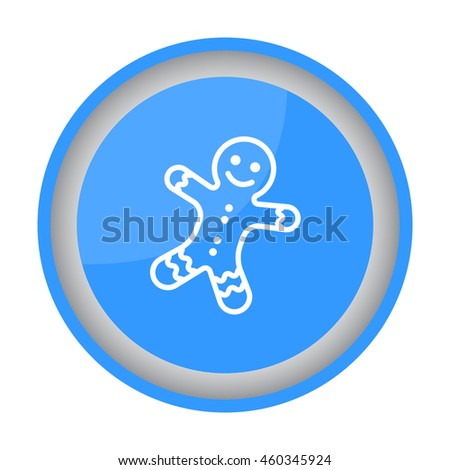 Web line icon. Christmas gingerbread #460345924