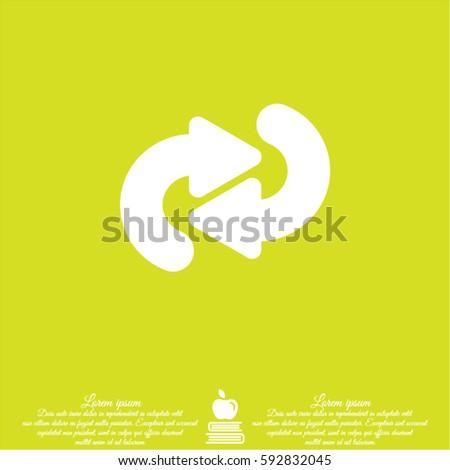 Web line icon. Circular arrows