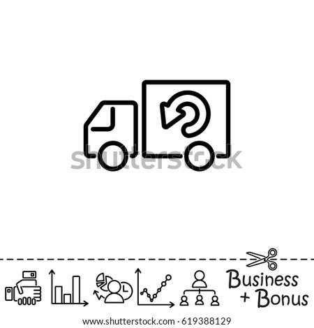 Web line icon. Delivery