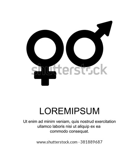 Web line icon. Gender symbol, Symbols of men and women