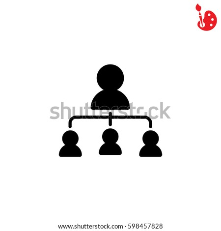 Web line icon. Management, group of people