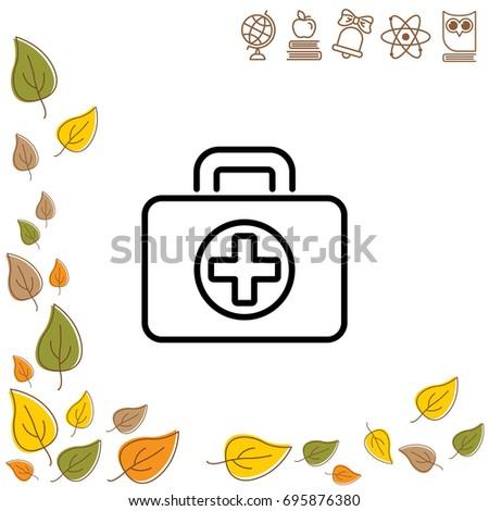 Web line icon. Medical case.