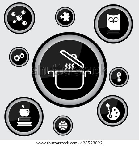 Web line icon. Pan, saucepan